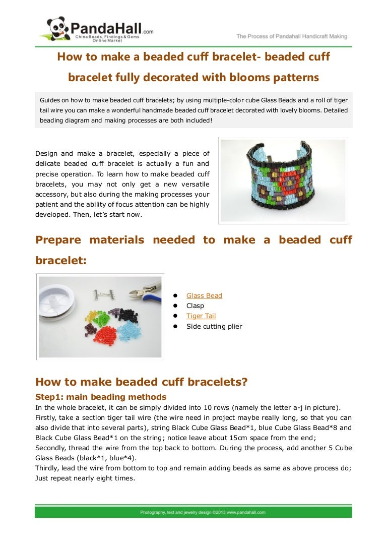 How to make beaded cuff bracelets