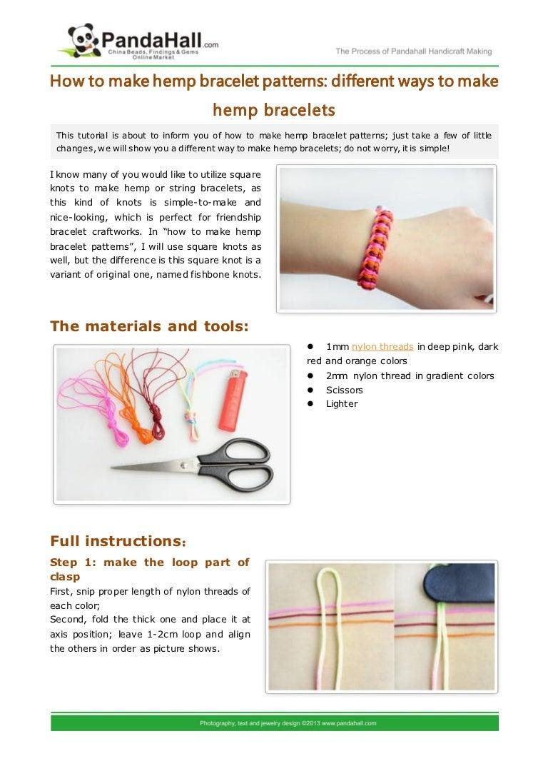 Fishbone Knot Hemp Instructions Square Diagram Pdf Tutorial Alternating Macrame Bracelet Pattern Etsy