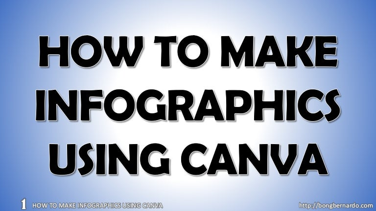 How to make infographic using canva
