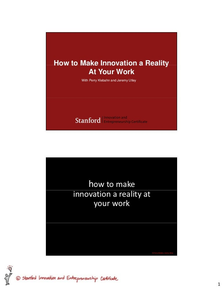 How To Make Innovation A Reality At Work