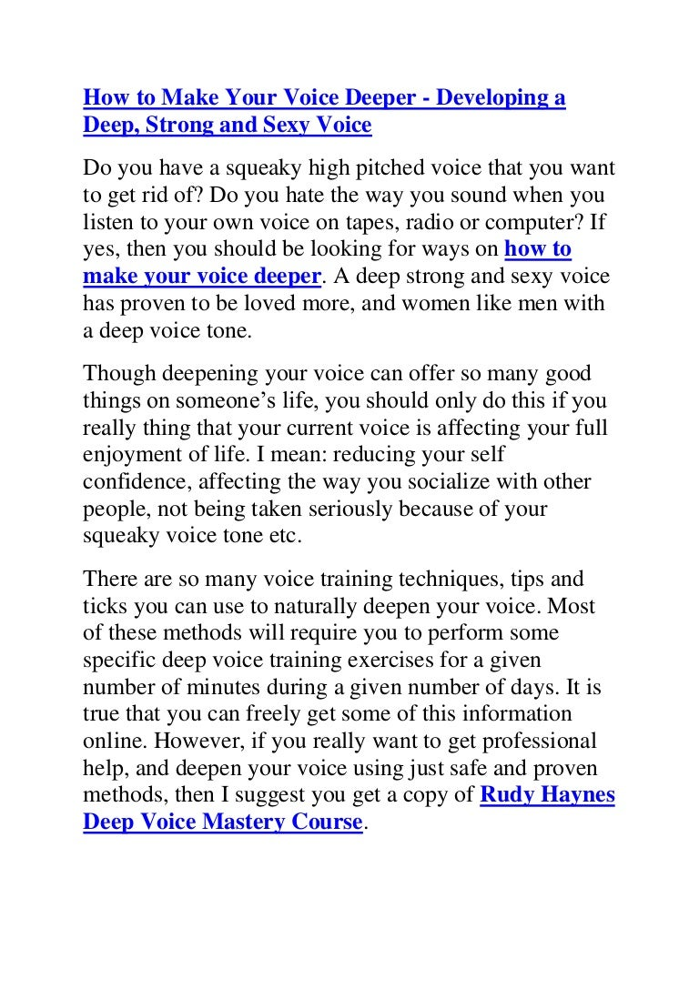 App That Makes Your Voice Deeper