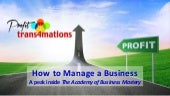 How to Manage a Business | FREE Profit Tool - Business Management Training