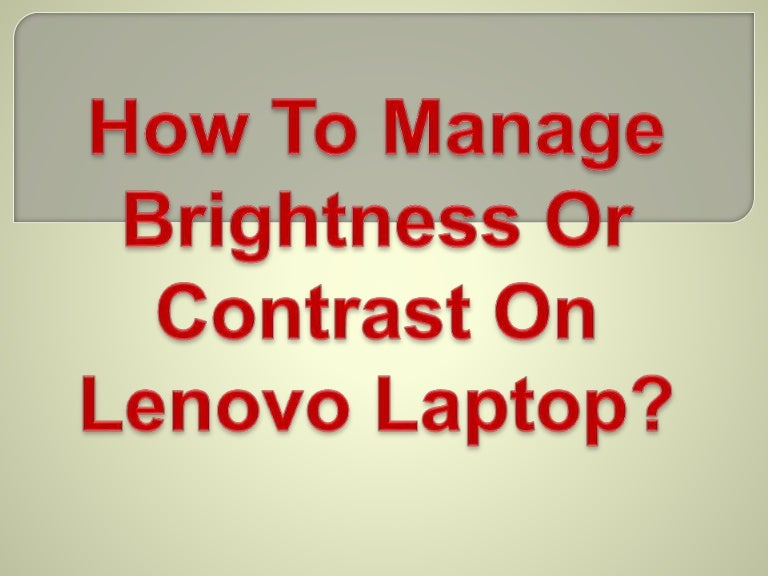 how to change contrast on laptop