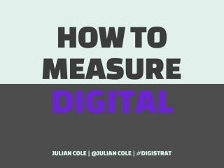 How to measure Digital