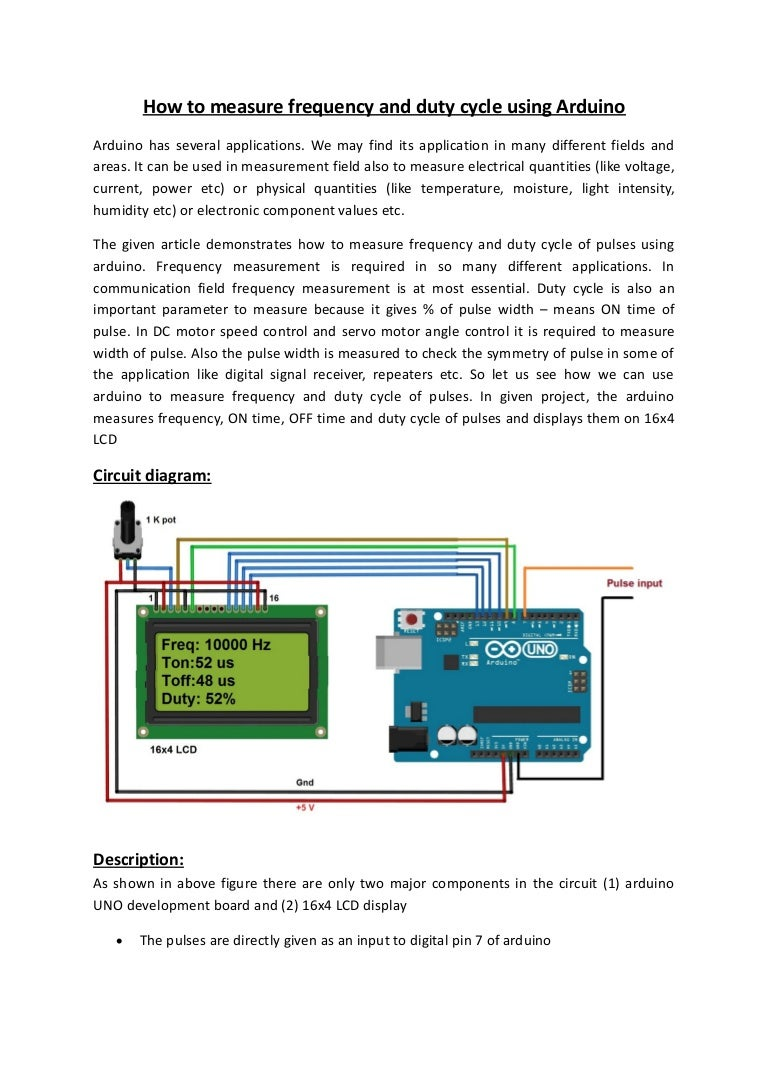 How to measure frequency and duty cycle using arduino