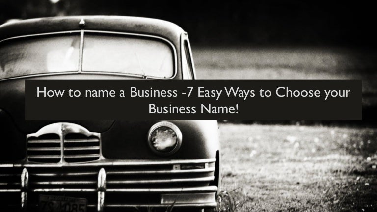 how to choose business brand name
