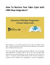 How to nurture your sales cycle with crm map integration?