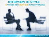 #Interview In Style: 10 #Must-do things in an #interview