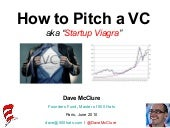 How to pitch a VC (from Dave McClure)