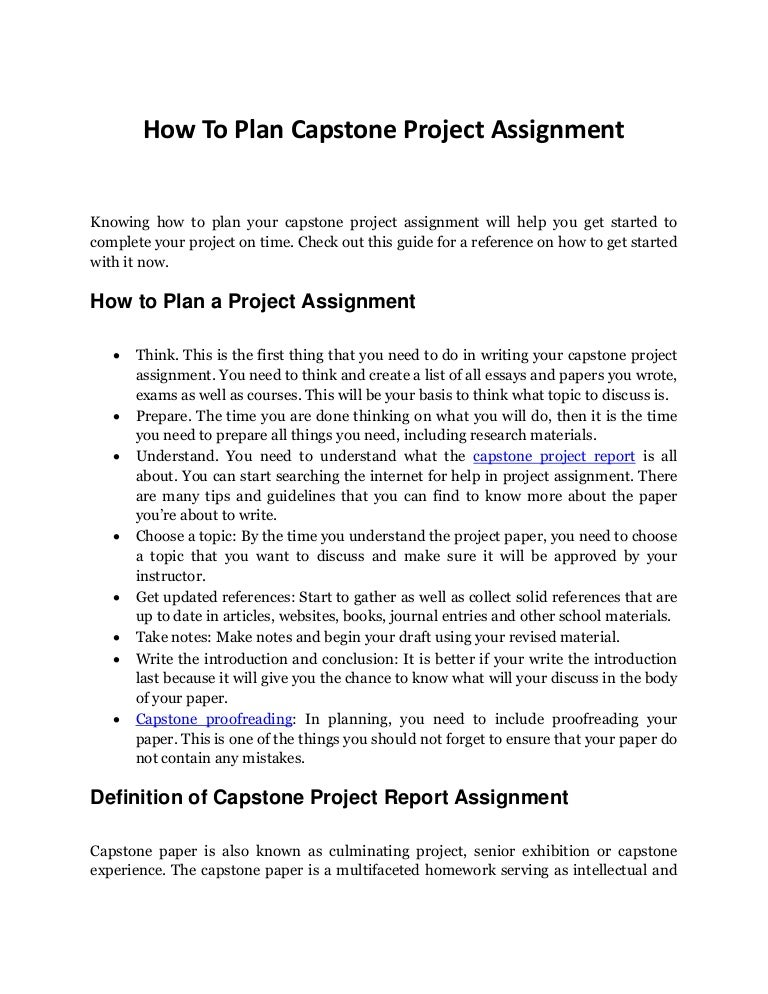 capstone experience essay Capstone experience  definition culminating experience(s) in which students are expected to integrate, extend, critique and apply knowledge gained in the major [certificate or degree program] benefits a helps students make sense of what they have learned across years and therefore better understand.