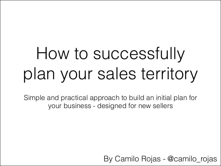 To Plan Your Sales Territory