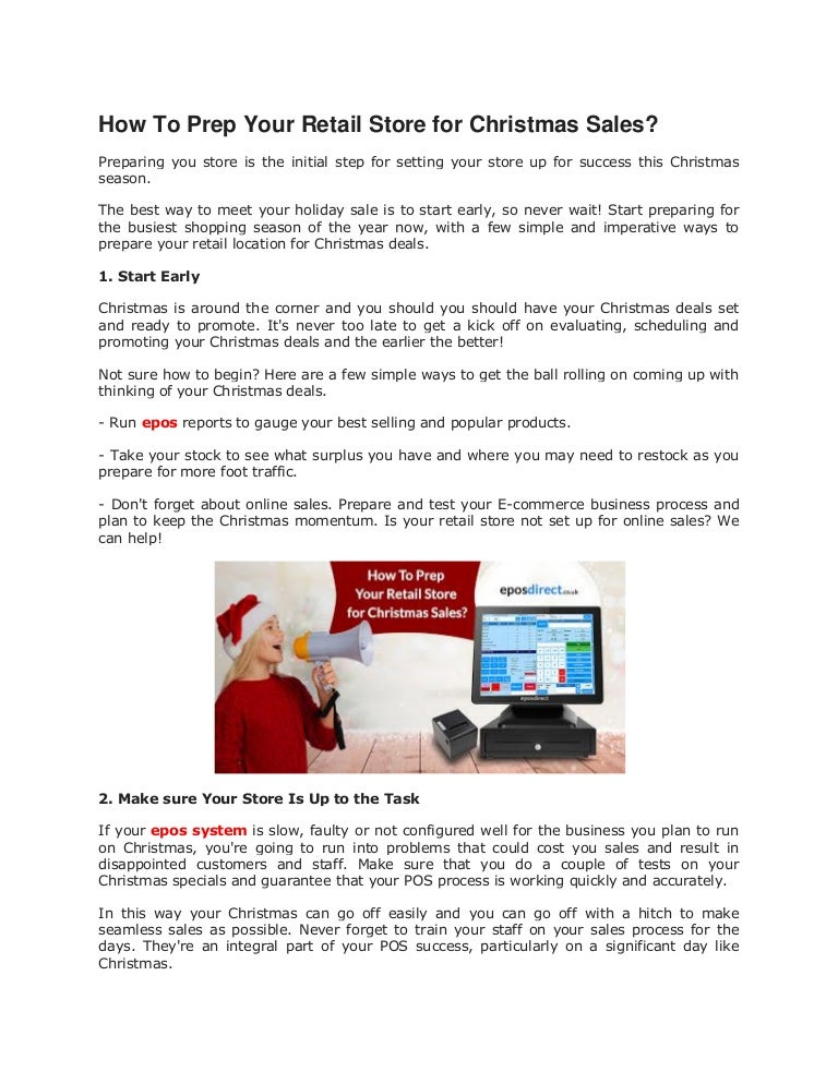 prep your retail store for christmas sales