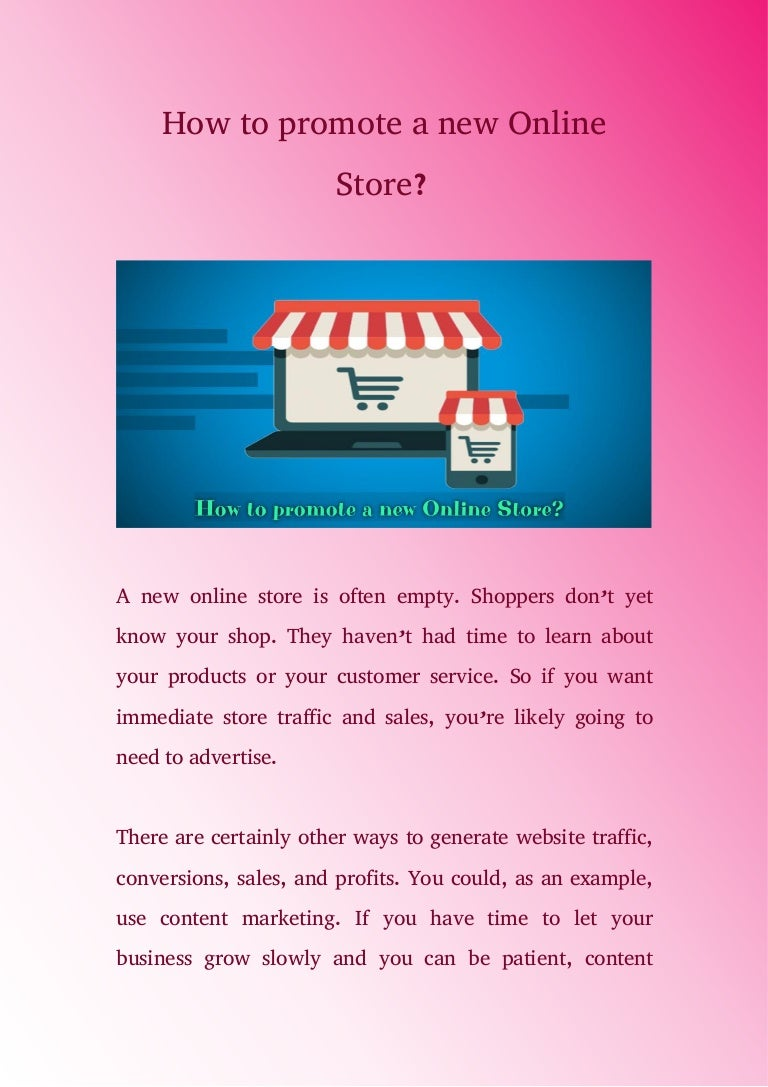 Promote online store 55