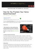 How to promote your homebased business