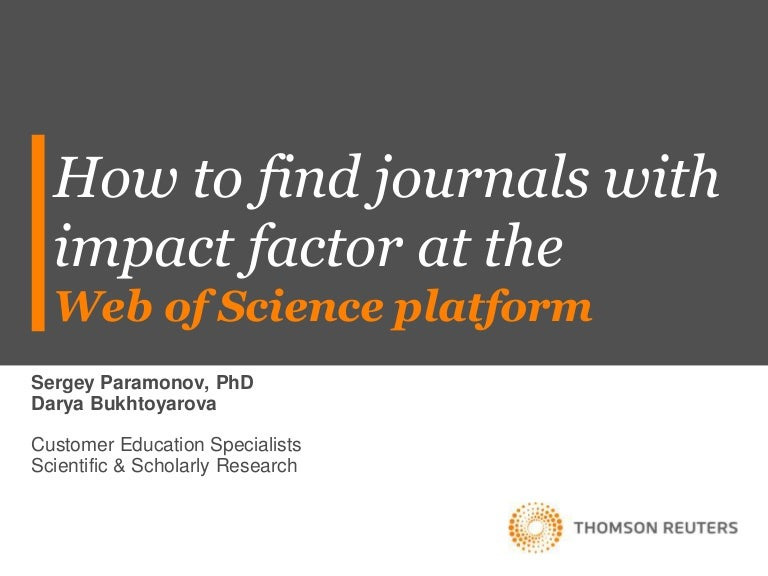 How To Find Journals With Impact Factor Part 2 Step By Instruc