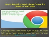How to Reinstall or Repair Google Chrome if it Crashes or Won't Open