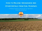 How To Release Manganese and Other Metals From Soil Reserves