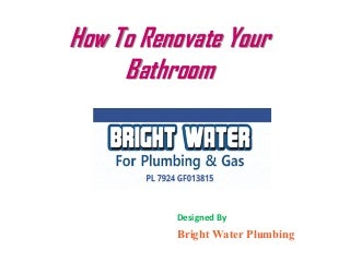 How to Renovate Your Bathroom