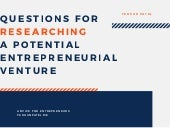 How to Research a Potential Entrepreneurial Venture