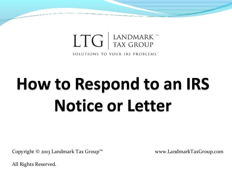 How to Respond to an IRS Notice or Letter (IRS Tax Help Relief)