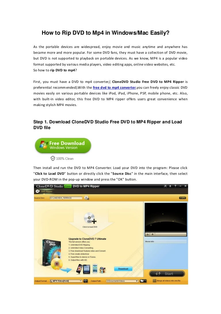 How to rip dvd to mp4 in windows mac easily