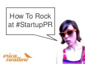 How to Rock at Startup PR