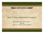 How to secure electronic passports