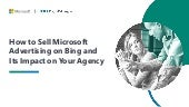 How to Sell Bing and its Impact on your Agency