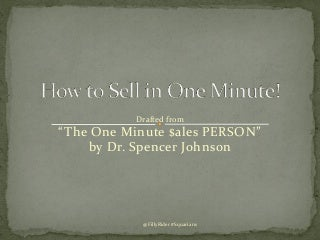 How to sell in 1 minute-Before the Sale @FillyRider