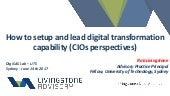 How to setup and lead digital transformation capability (CIOs perspectives)