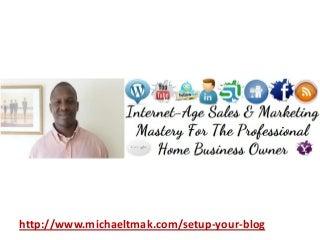 How To Setup Your Home Business Blog