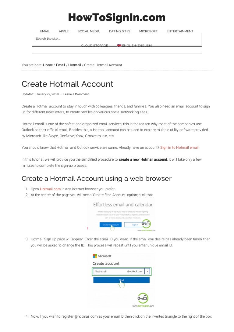 Hotmail Com Registrera