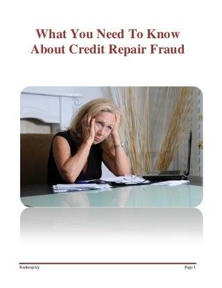 How To Spot Credit Repair Fraud