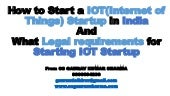 How to start a iot(internet of things) business or startup