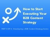 How to Start Executing your B2B Content Strategy
