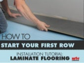 Laminate Flooring Installation Tutorial: How to Start Your First Row