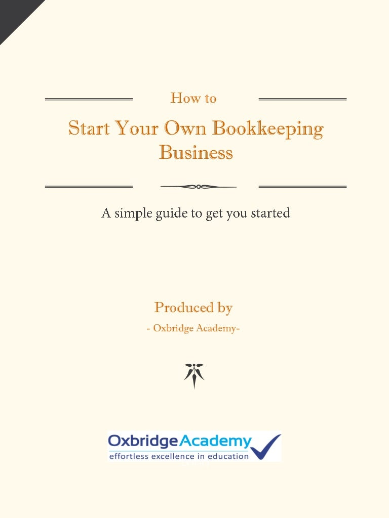 How to start your own bookkeeping business 1betcityfo Image collections