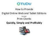 How to supply your Clients with Html5 and App Digital Editions created from the Print PDF overview