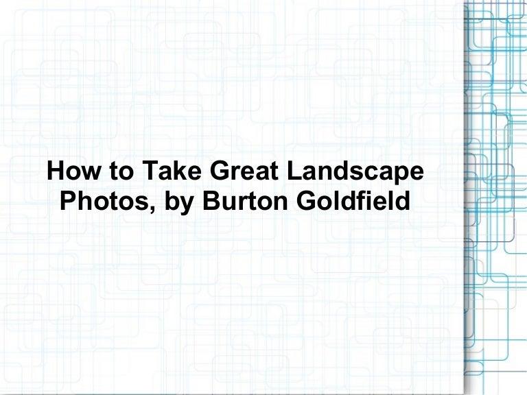 burton goldfield