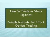 How to trade in option in share market