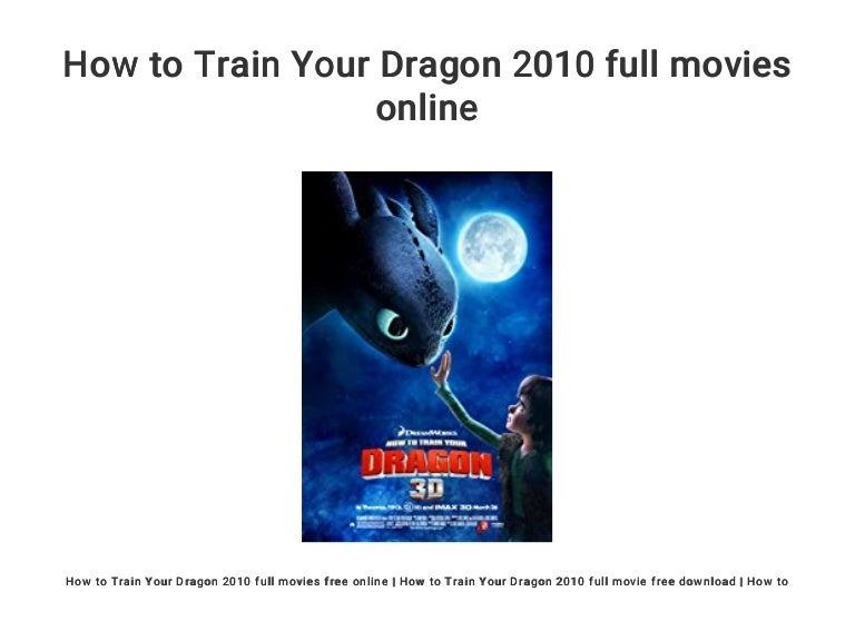 How To Train Your Dragon 2010 Full Movies Online