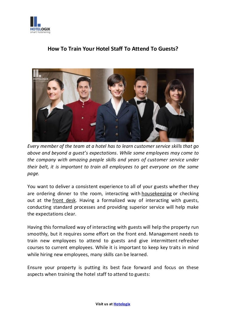 how to train your hotel staff to attend to guests