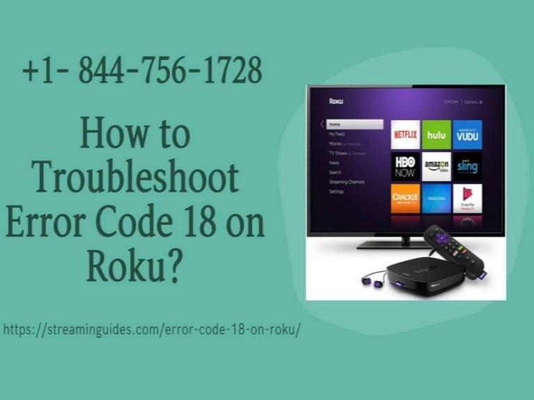 Resolve Roku Error Code 18   Error Code 018 on Roku – Roku Connectivity Error