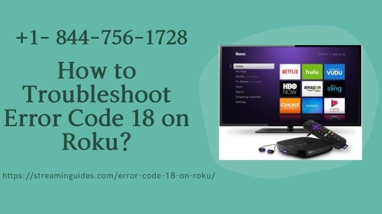 Roku Error Code 018   Error Code 018 on Roku Fix Now – Call Now