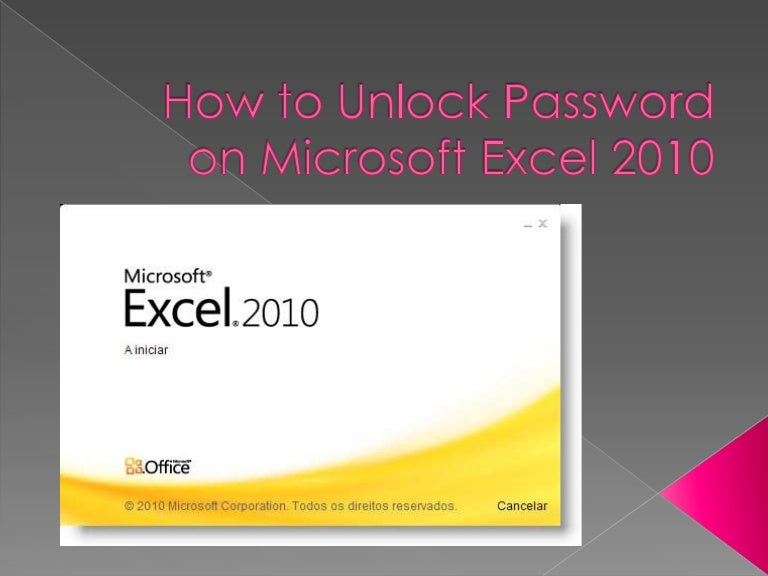 ms excel 2010 password protect file