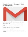 How to unsend a message in gmail or google apps