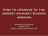 How to Upgrade to the Newest Shiniest Django Version