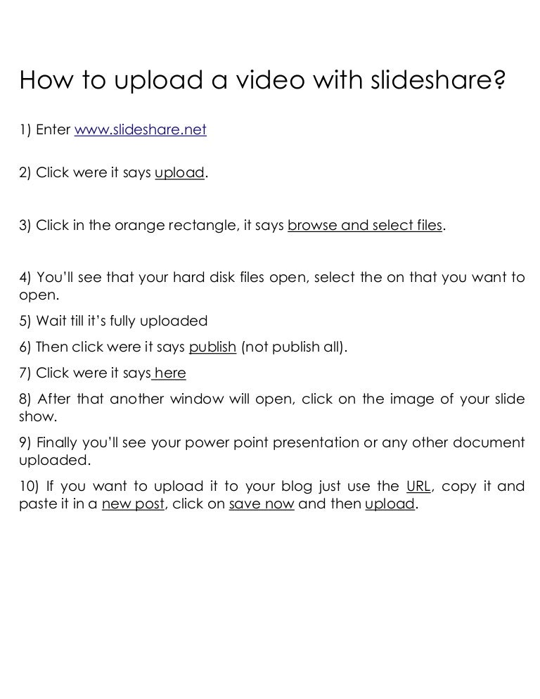 How To Upload A Video With Slideshare