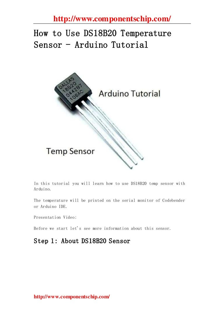 How To Use Ds18b20 Temperature Sensor Arduino Tutorial Thermometer Circuit Schematic Using Operational Amplifiers