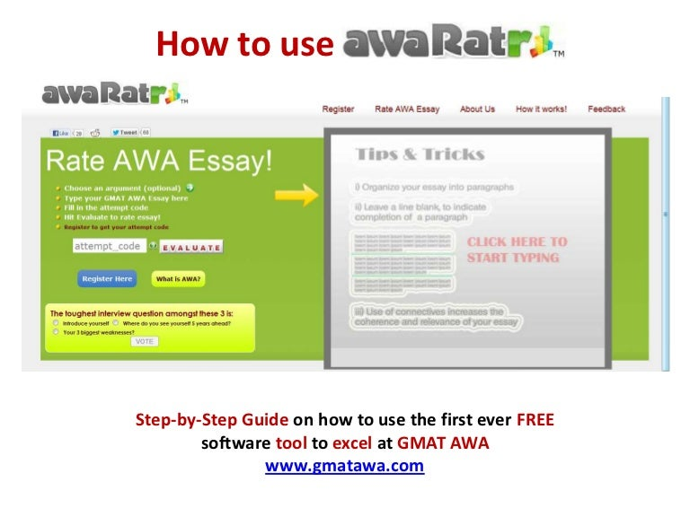 essay rater for gmat awa gre toefl how to guide